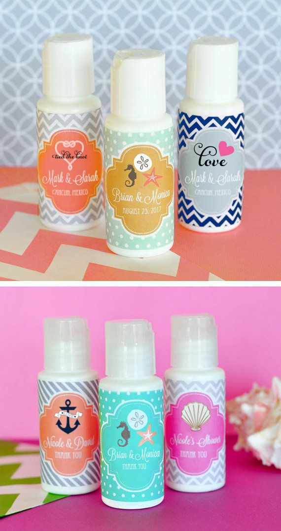 beach wedding favors will be a hit with these sunscreen favors perfect for a beach theme bridal shower party baby shower birthday and more travel