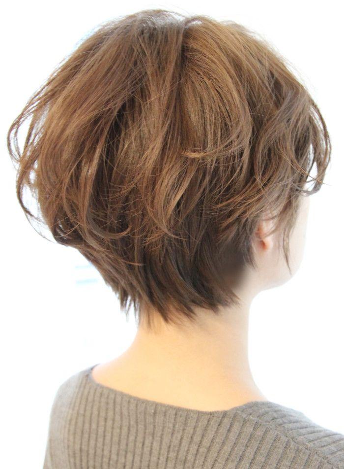 30代40代 ボリュームショート 髪型 ヘアスタイル ヘアカタログ