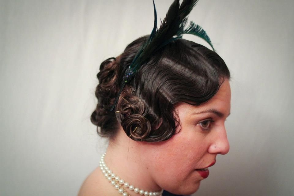 1920s Party Results: Hair In Color. Finger Curls With Long