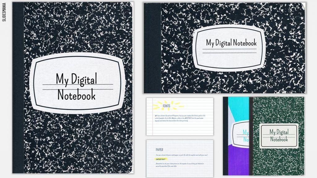 Digital Notebooks for Google Slides or PowerPoint in 2020