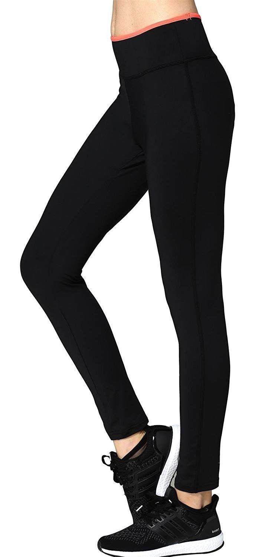 Women's Gym Workout Yoga Pants Tights Trousers - Black/orange - C212L7MJMI7 - Sports & Fitness Cloth...