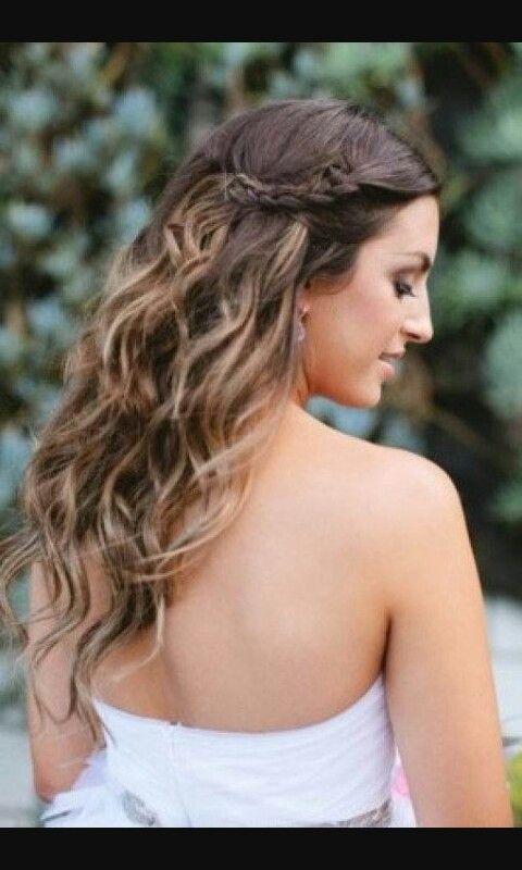 Para Coctel Peinados Sencillos Peinados Novia Pelo Suelto Peinados De Fiesta Semirecogidos