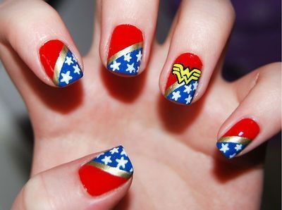 Wonder woman nails nail art pinterest wonder woman nails unique christmas nail art ideas and designs prinsesfo Gallery
