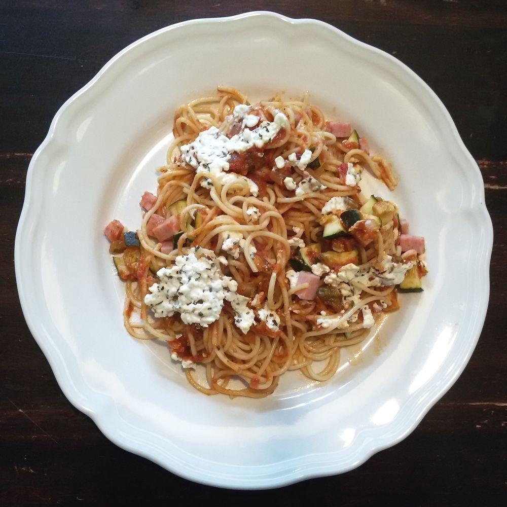 spaghetti schotel uit oven
