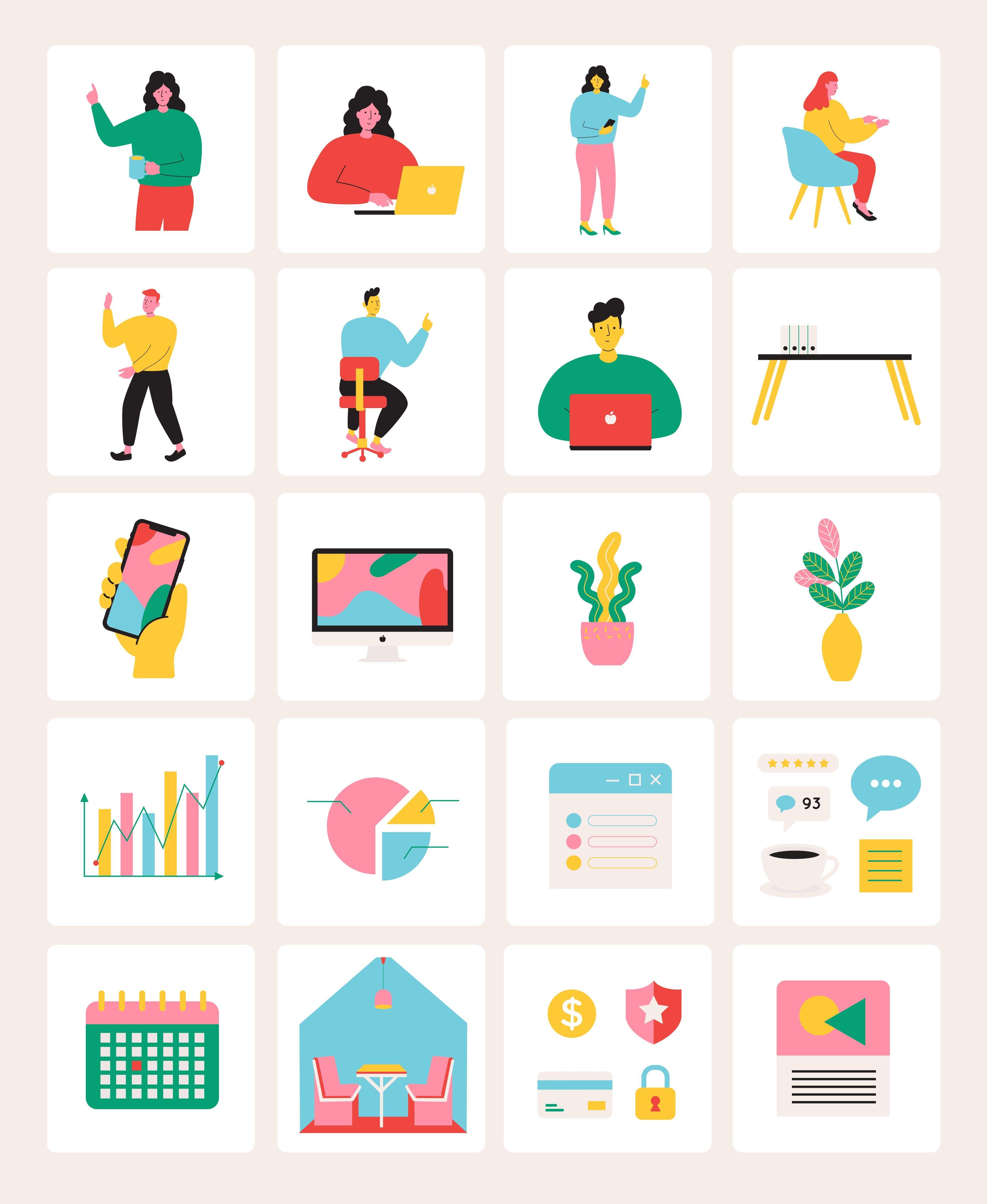 Unicorn Startup Illustration Pack — UI Place