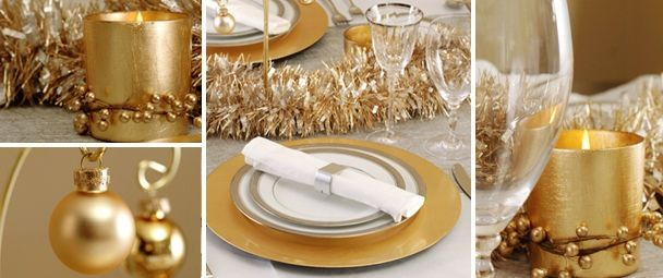 Awesome 1000 Images About Table Setting New Years Eve On Pinterest Easy Diy Christmas Decorations Tissureus