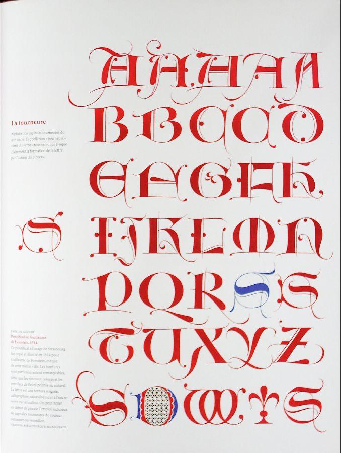 Graceful decorative versal letters lettering