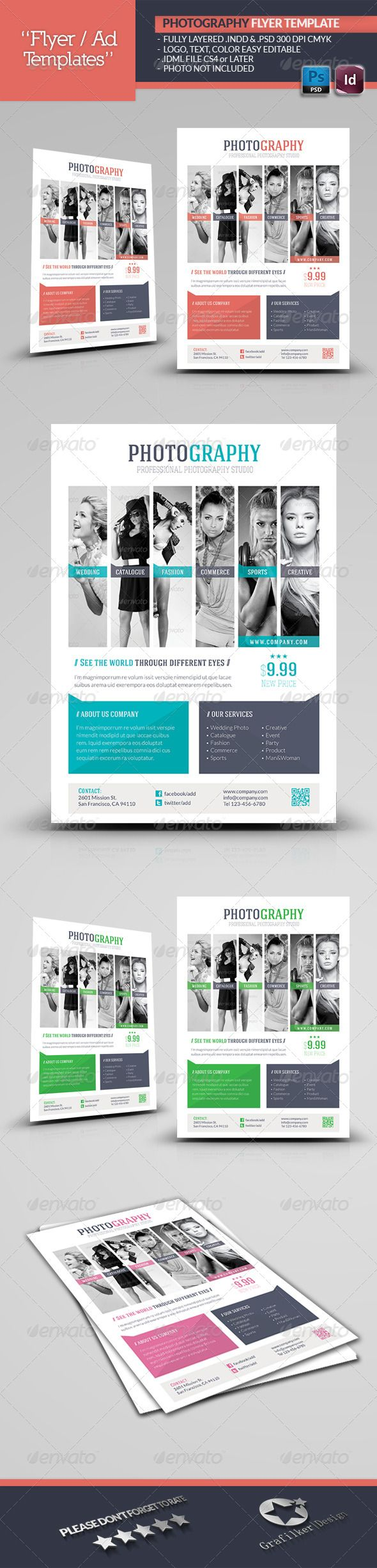 Photography Flyer Template Corporate Flyers Design Pinterest
