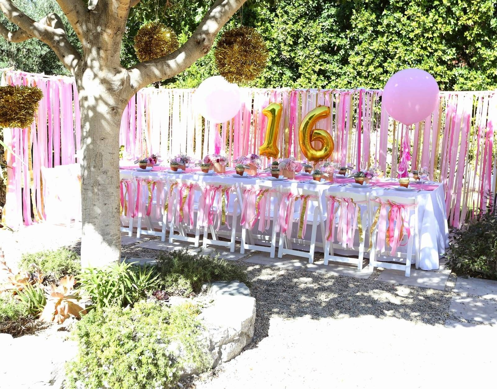 13 Smart Ideas How To Makeover Backyard Birthday Party Ideas Sweet 16 Backyard Birthday Parties Backyard Birthday Birthday Party At Home