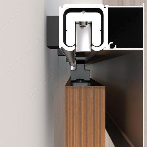 Merveilleux Richelieu Contemporary Concealed Barn Door Hardware Set 2460402ALPVC