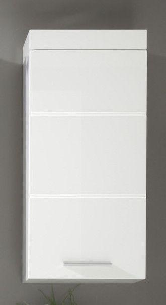Hängeschrank Mit Einer Tür Weiß Hochglanz Woody 93-00799 Weiss Holz