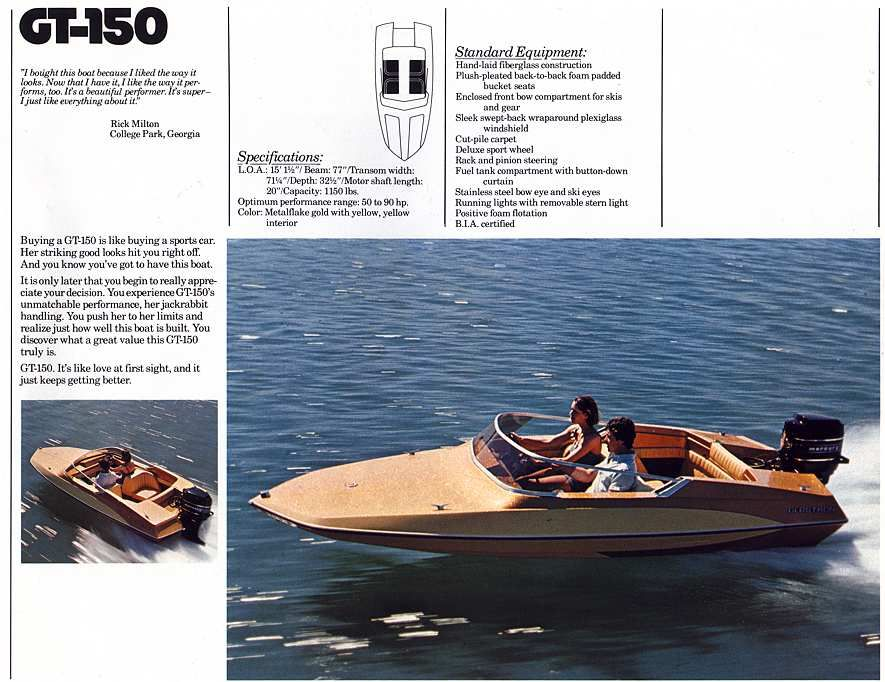 1979 Glastron GT-150 | Boats | Boat, Boat engine, Speed boats