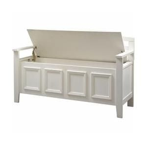 Strange Linon Home Decor 84016Wht 01 Kd U Laredo Storage Bench Gmtry Best Dining Table And Chair Ideas Images Gmtryco
