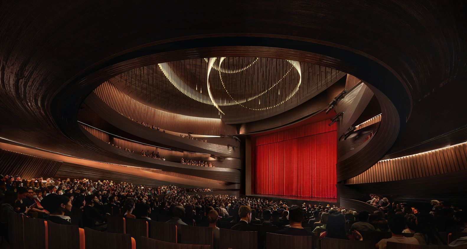 Gallery Of Snohetta Wins Competition To Create The Xingtai Grand Theater In China 4 Design Competitions Win Competitions Xingtai