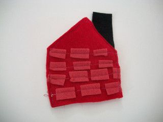 Three Little Pigs Finger Puppet Brick House by Laboratory5, via Flickr