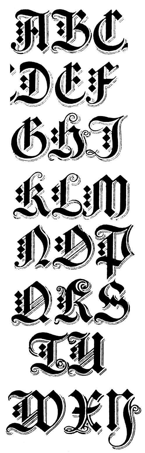 Gothic Alphabets Tattoo Fonts Alphabet Calligraphy