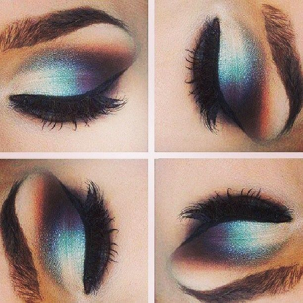 Beautiful Eye Makeup Three Colors Candy Eye Beauty Makeup