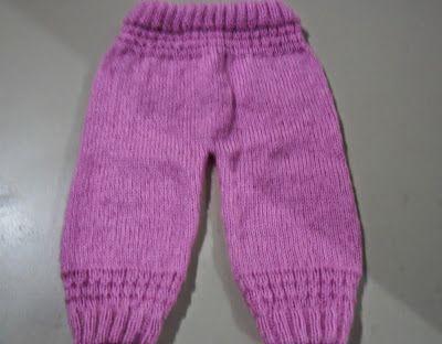 46a786f1511a Receita de Tricô: Calça infantil de tricô - Tamanho é para de 2 a 6 meses
