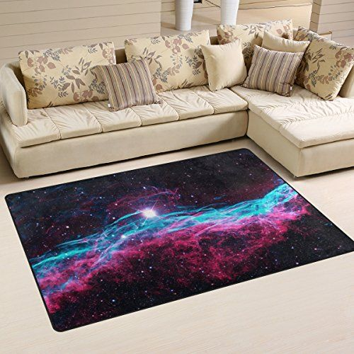 Naanle Universe Galaxy Area Rug 3x5 Outer Space Polyester Area Rug