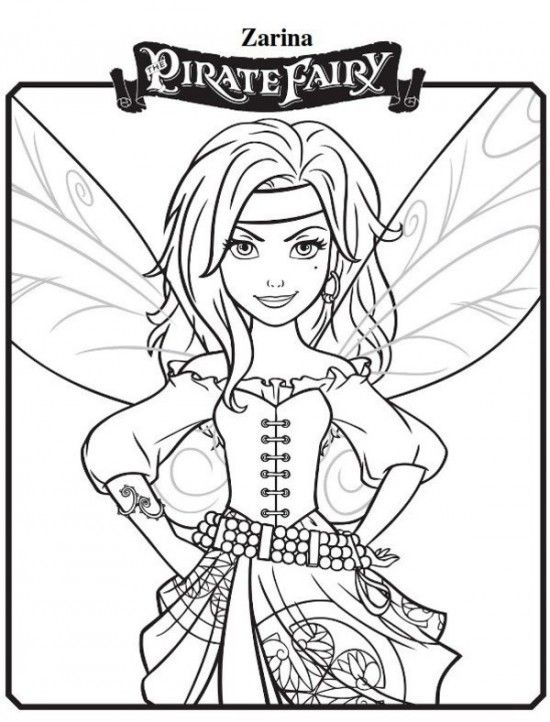 zarina new tinkerbell pirate coloring pages 550x722