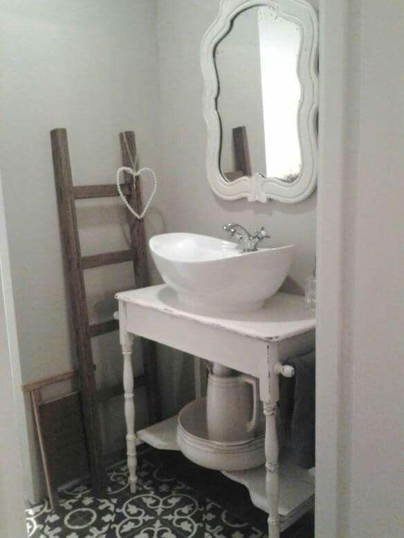 Landelijk brocante toilet inspiratie toilet pinterest brocante badkamer en wc - Doucheruimte deco ...