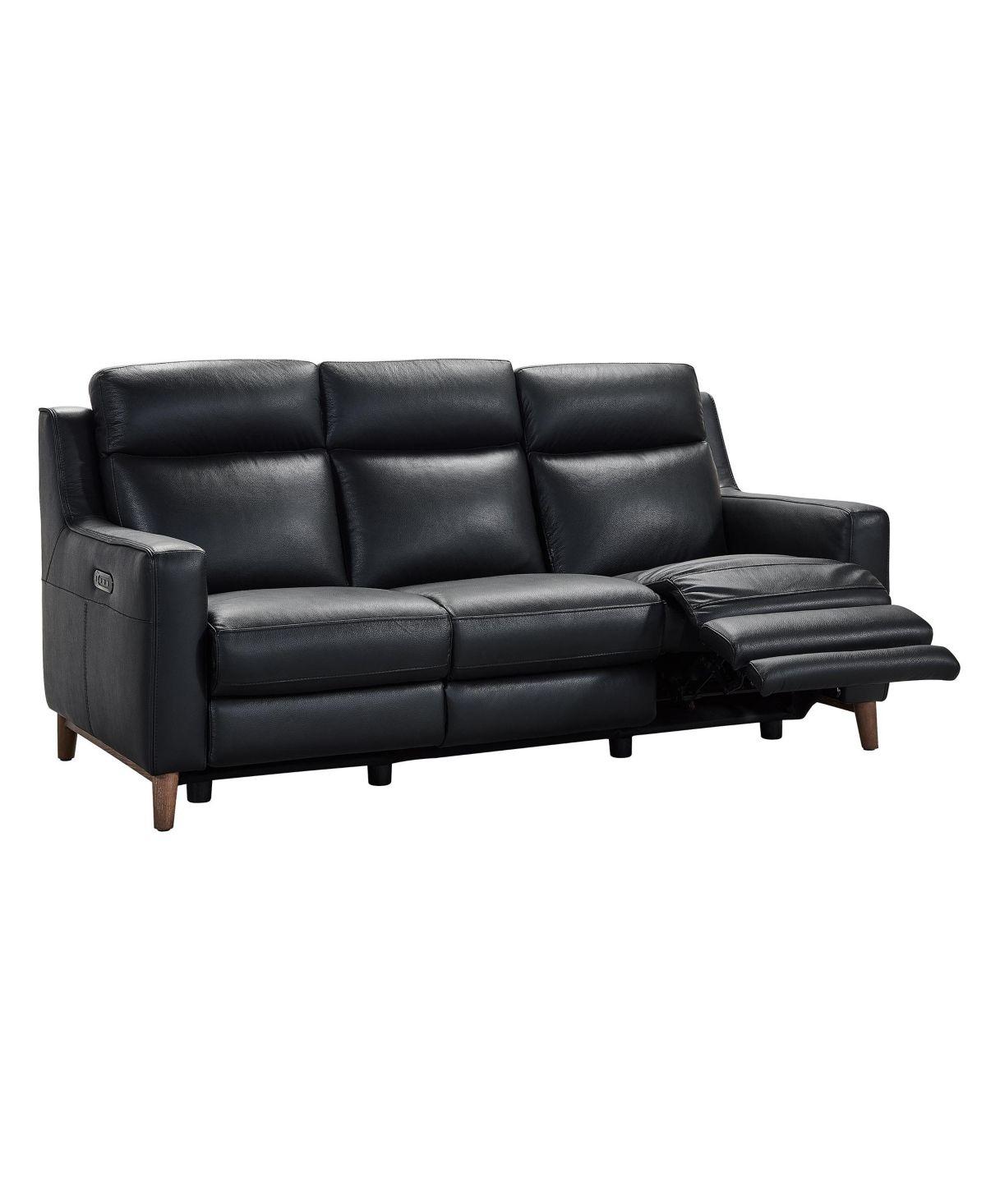 - Wisteria Reclining Sofa - Black In 2020 Genuine Leather Sofa