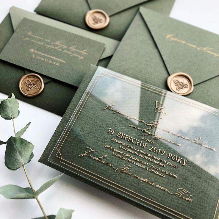 Hochzeitseinladungen Acryl #Hochzeit #Einladungen #Hochzeitseinladungen Deep green …
