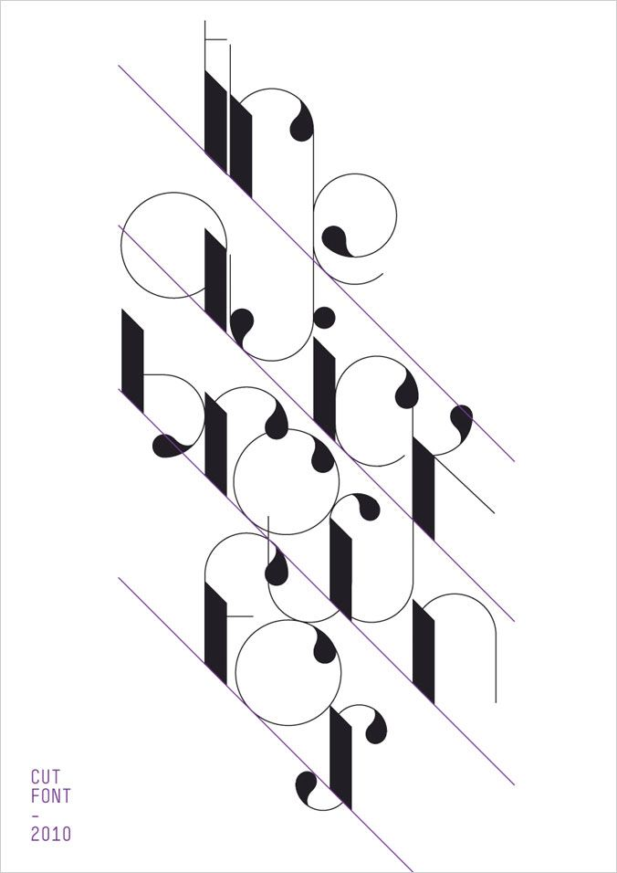 Paper: Cut Paste Fold  Fashion typography and creativity come together in this wonderful project promotion agency created Treviso or areas . Cut Font, an elegant typeface inspired by the cutter blade (the cutter) and the curved shapes of the hair and the paper folded (the fold) was designed and matched with a series of shots from the fashion and minimal flavor.