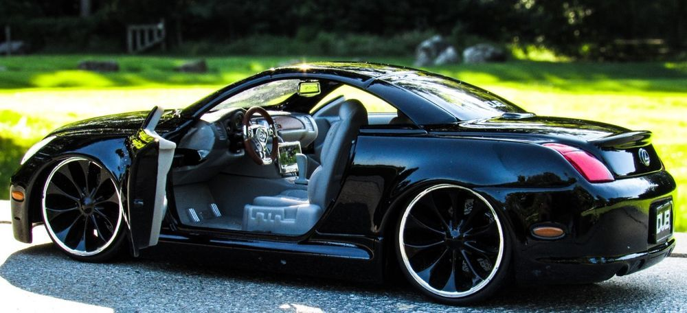 JADA Dub City Lexus SC430 1/24 Sports Coupe Black w/Black Wheels