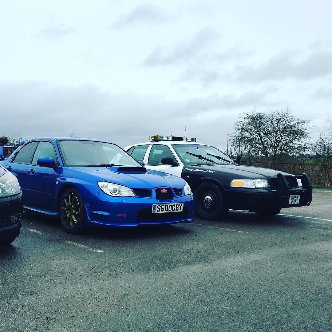 Eyeing up the competition lol americanpolicecar police carntcatchme prodrive sti