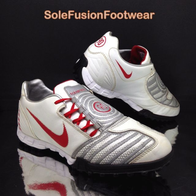 03f782de5660 Nike mens Total 90 Turf Football Trainers White Red sz 8.5 Shoot Soccer  Shoes 43