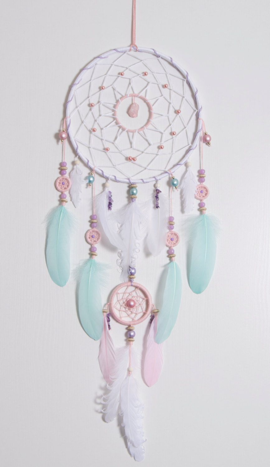 Grande rose menthe dream catcher par magicalsweetdreams - Tenture chambre bebe ...