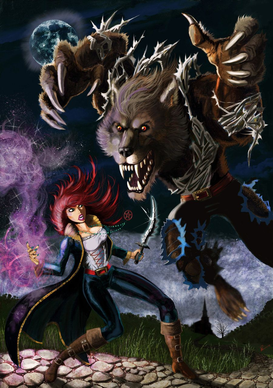 the witch and the werewolf by kustom65 on deviantart