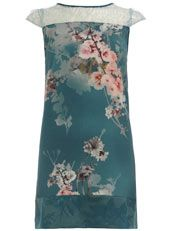 Petrol blossom lace dress