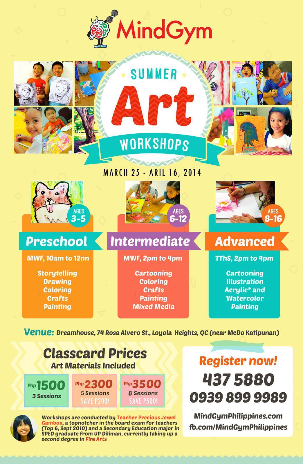 Summer Art Workshops in Katipunan, Quezon City | Expired Art class