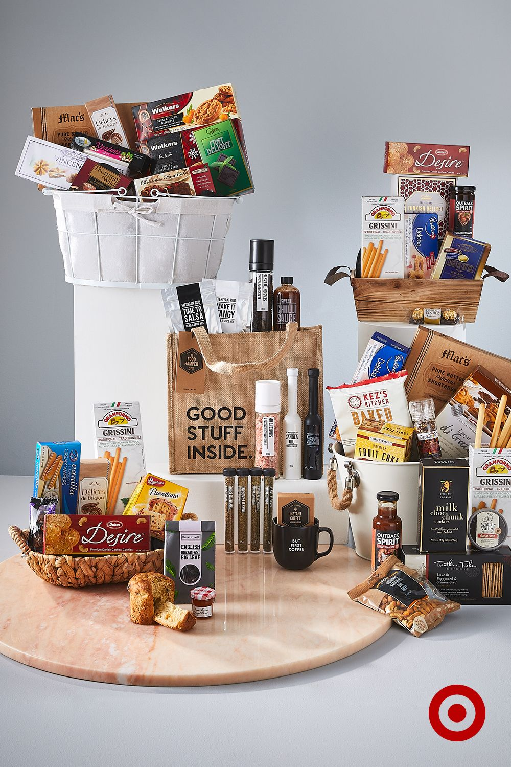Baskets of goodies for those with great taste diy gifts