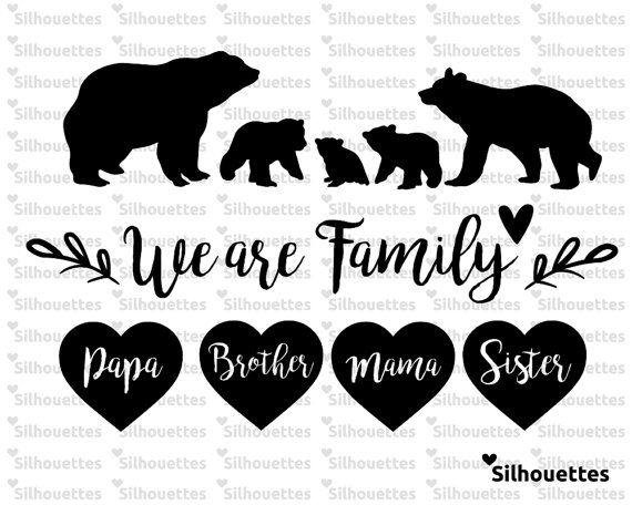 digital printable of a mama bear and her cub by elevateddesignshop