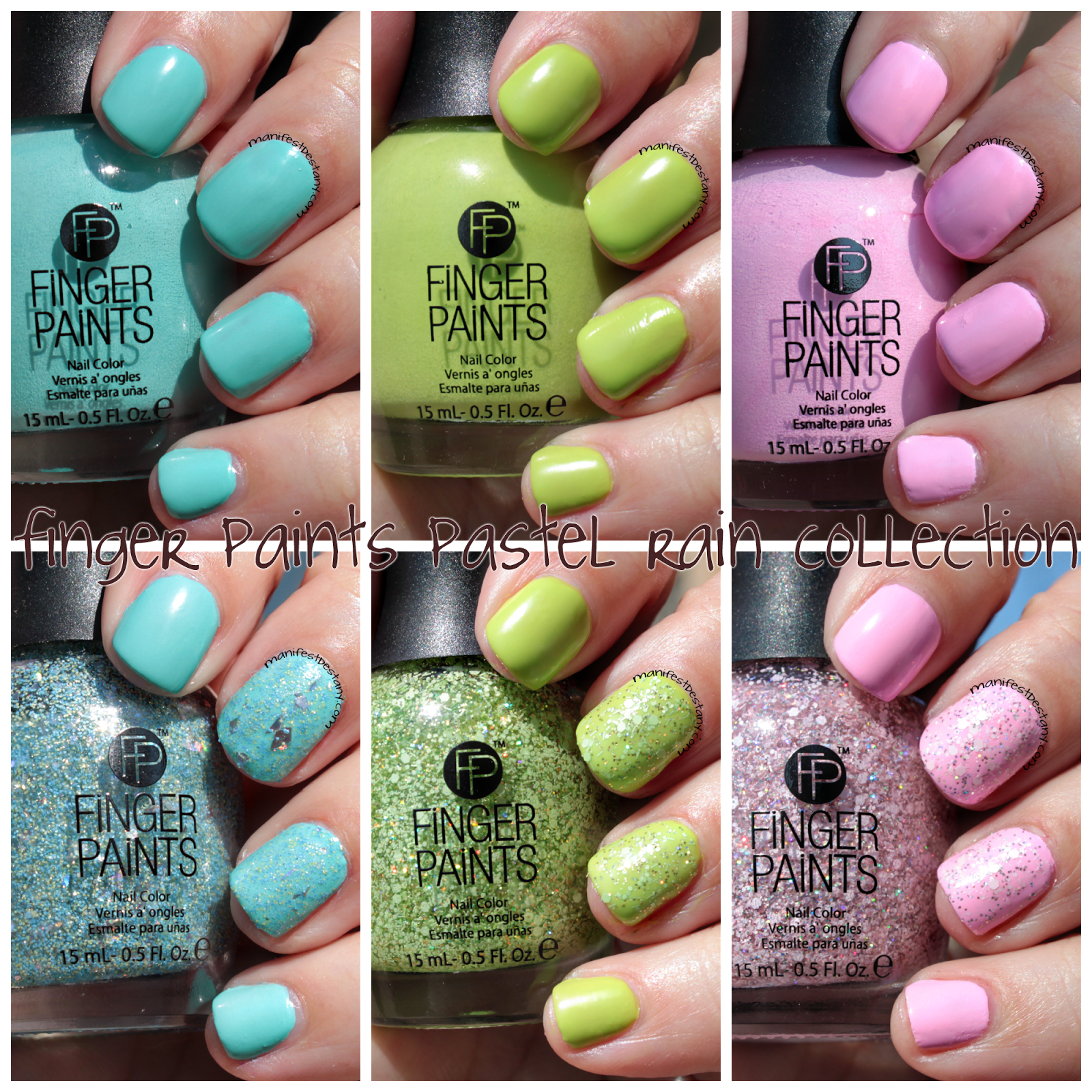 Finger Paints Pastel Rain Collection swatches+review | My Nails in ...