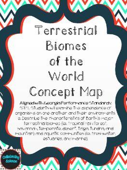 Terrestrial Biomes Concept Map Biomes Pinterest Biomes