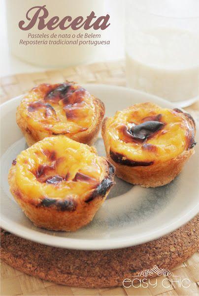 Receta pasteles de Belem o pasteles de nata. Receta portuguesa ...