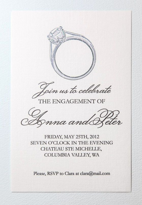 Printable Engagement Party Invitation by encrestudio on Etsy - free engagement party invites