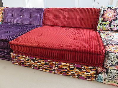 Quality Roche Bobois Mah Jong Missoni Upholstered Large Modular Sofa Cushions