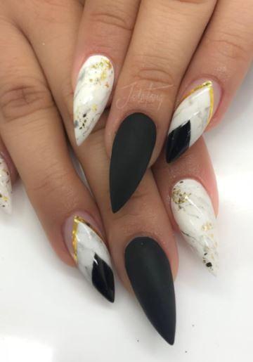 15 Cool Black And White Nail Design 2018 Blackandwhite