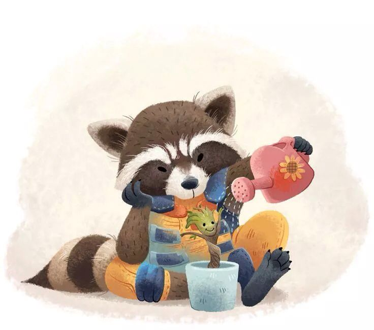 This is adorable rocket and groot :3