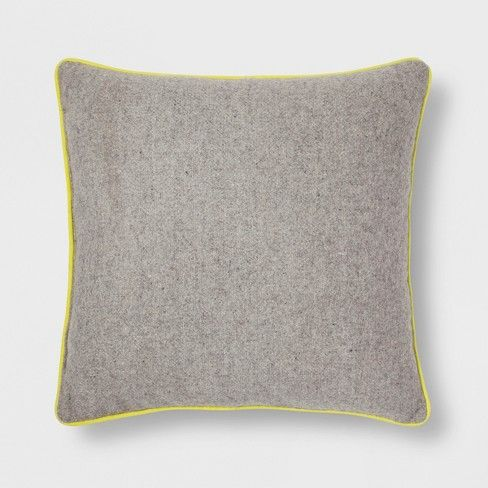 Gray with Yellow Piping Throw Pillow - Room Essentials™ at ...