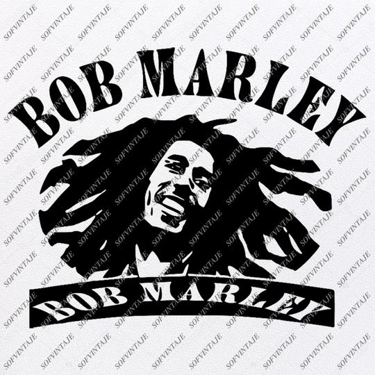 Bob Marley Svg File Bob Marley Svg Design Clipart Music Svg File Singer Reggae Vector Graphics Svg For Cricut For Silhouette Svg Eps Pdf Dxf Png Silhouette Svg