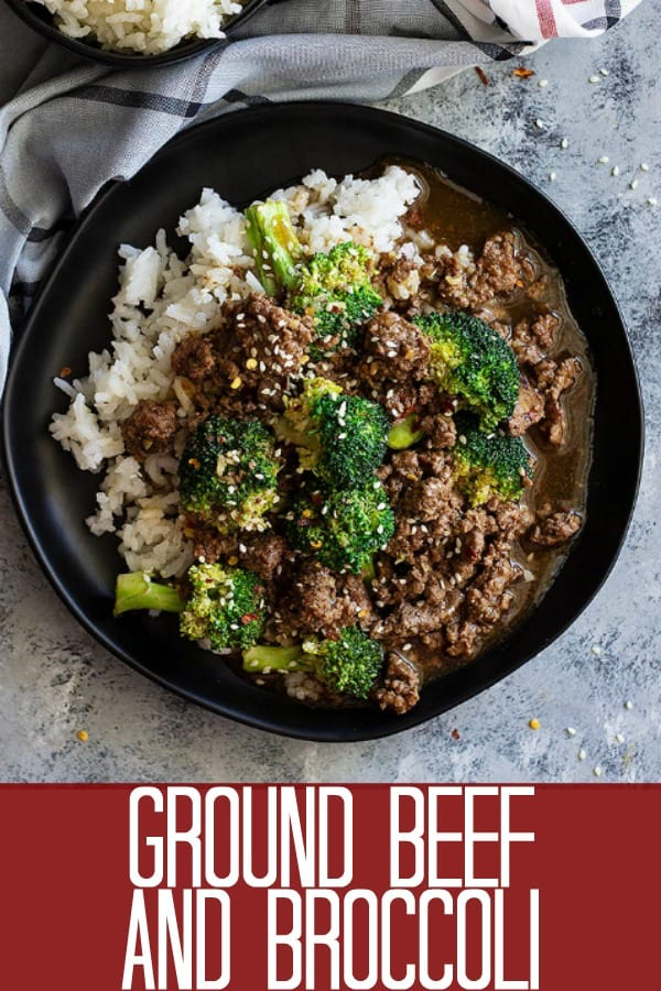 This Easy Ground Beef and Broccoli is healthier and cheaper than take out! It's full of flavor and a super quick weeknight meal! #chinese #healthy #beef #beefandbroccoli