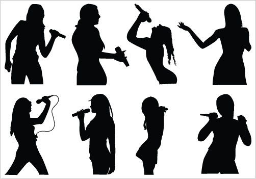 Download Rapper Vector Silhouette Hip Hop Singer Silhouette Png Png Images Backgrounds For Free Seach And Find More Similar Hd Festa Musical Danca Musical
