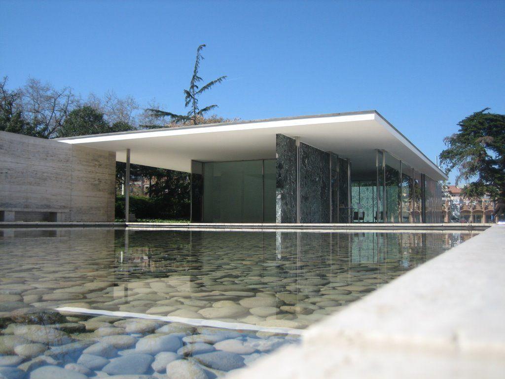 Barcelona Pavilion. Rebuilt in Barcelona, Spain ...