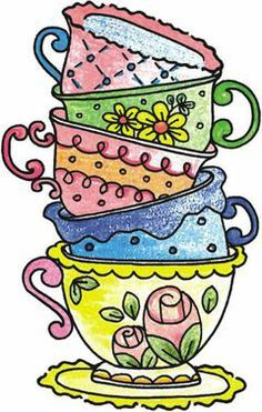 52 awesome stacked coffee cups clipart tea cups bowls coffee cups rh pinterest com tea cup clip art free download tea cup clip art free download